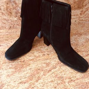 Pazzo Preffered Black Suede Ankle Boot